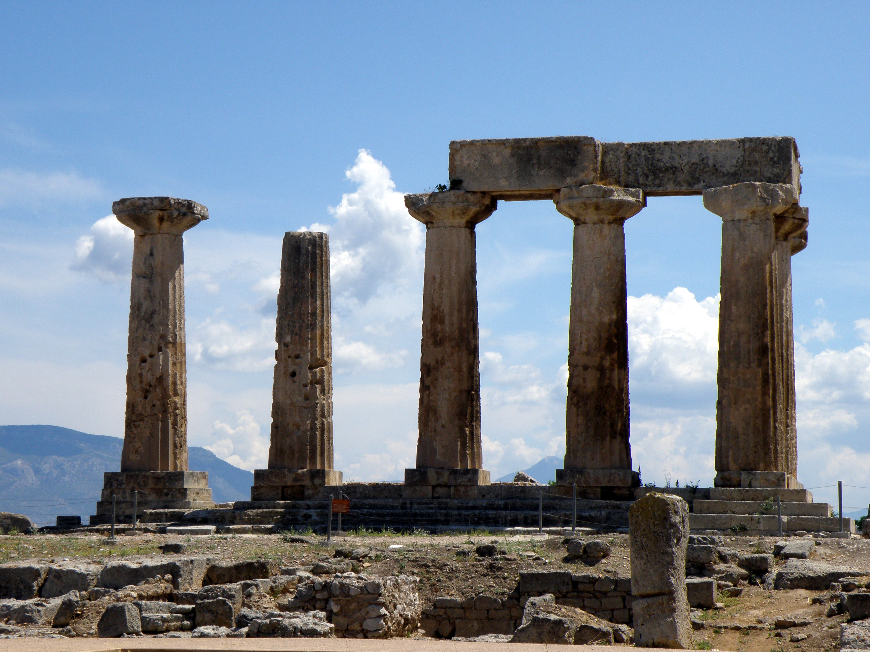 Temple of Apollo at Corinth  Travel adventures by Kat